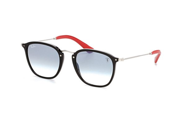 Очки Ray-Ban Scuderia Ferrari Collection RB2448NM-F601-3F Black / Silver / Red | Gradient Light Blue