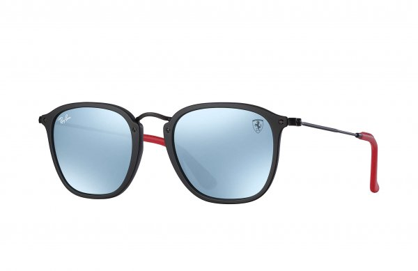 Очки Ray-Ban Scuderia Ferrari Collection RB2448NM-F602-30 Black / Red | Crystal Silver Mirror
