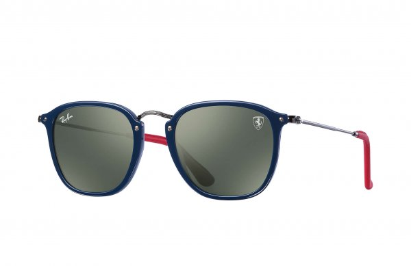 Очки Ray-Ban Scuderia Ferrari Collection RB2448NM-F606-31 Blue/ Gunmetal / Red | Dark Green