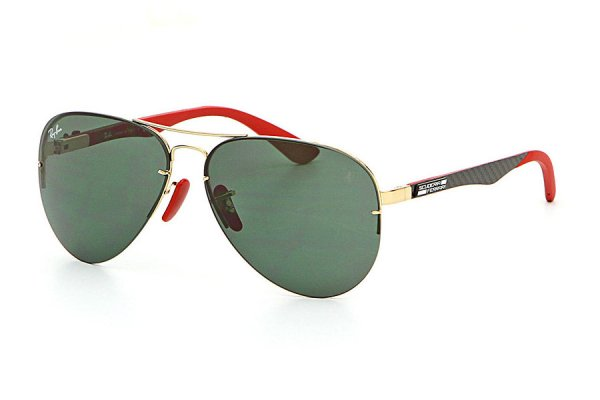 Очки Ray-Ban Scuderia Ferrari Collection RB3460M-F008-71 Arista / Grey / Red | Green / Grey