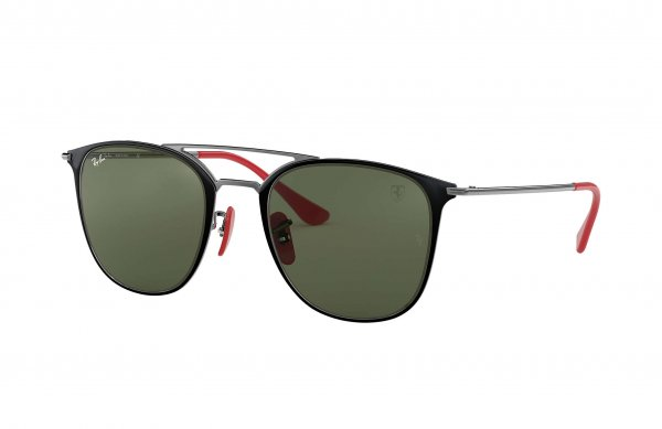 Очки Ray-Ban Scuderia Ferrari Collection RB3601M-F020-31 Black / Red | Natural Green