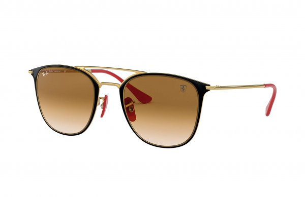 Очки Ray-Ban Scuderia Ferrari Collection RB3601M-F021-51 Brown / Dark Arista / Red | Faded Brown