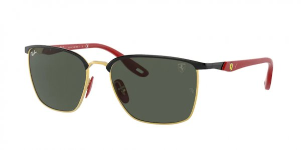 Очки Ray-Ban Scuderia Ferrari Collection RB3673M-F061-71 Black / Red | Natural Green