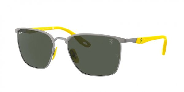 Очки Ray-Ban Scuderia Ferrari Collection RB3673M-F063-71 Gunmetal / Yellow | Natural Green
