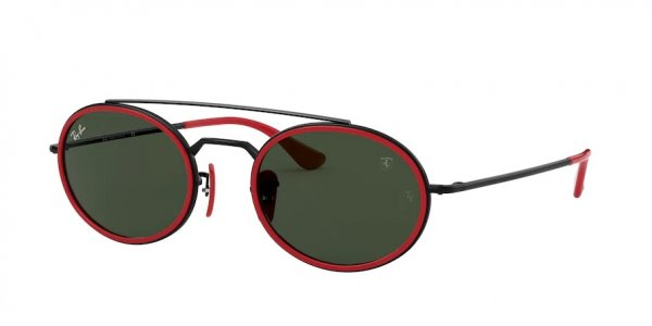 Очки Ray-Ban Scuderia Ferrari Collection RB3847M-F035-31 Black / Red | Natural Green