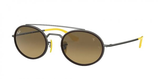 Очки Ray-Ban Scuderia Ferrari Collection RB3847M-F049-3K Gunmetal / Yellow | Brown Gradient Mirror