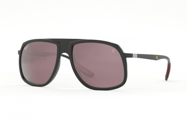 Очки Ray-Ban Scuderia Ferrari Collection RB4308M-F602-H2 Black | Purple Mirror