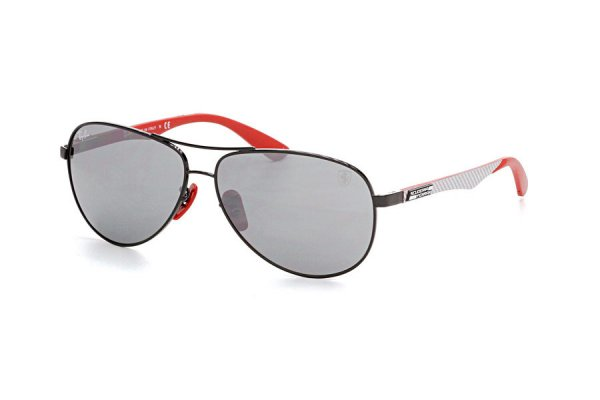 Очки Ray-Ban Scuderia Ferrari Collection RB8313M-F009-6G Black / Red | Grey Mirror