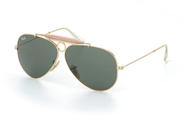 Очки Ray-Ban Shooter RB3138-001 Arista/Natural Green (G-15XLT)