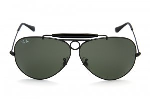 Очки Ray-Ban Shooter RB3138-002 Black/Natural Green (G-15XLT)