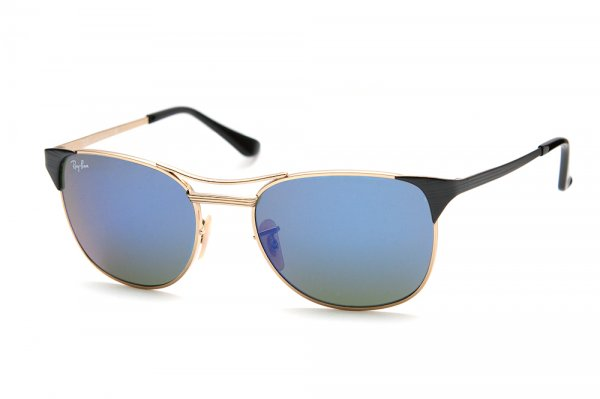 Очки Ray-Ban Signet RB3429-119-68 Arista/Matte Black Temple | Brown Faded Violet/Blue Mirror