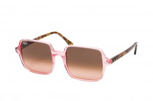 Очки Ray-Ban Square II RB1973-1282-A5 Transparent Pink | Gradient Brown