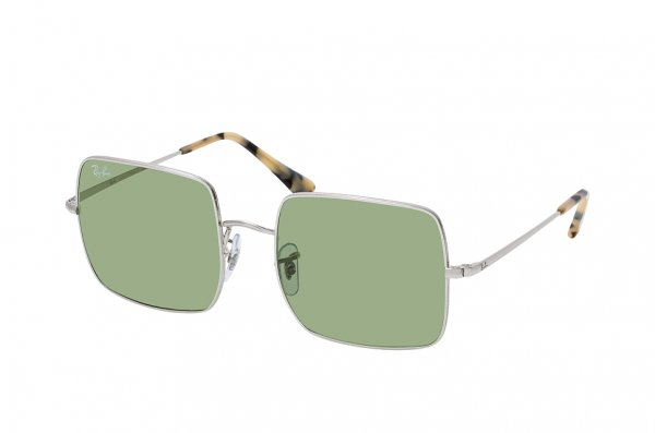 Очки Ray-Ban Square RB1971-9197-4E Silver | Light Green