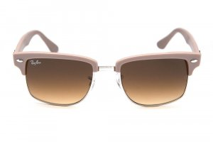 Очки Ray-Ban Squared Clubmaster RB4190-6009-85 Matte Mink | Brown Faded Yellow