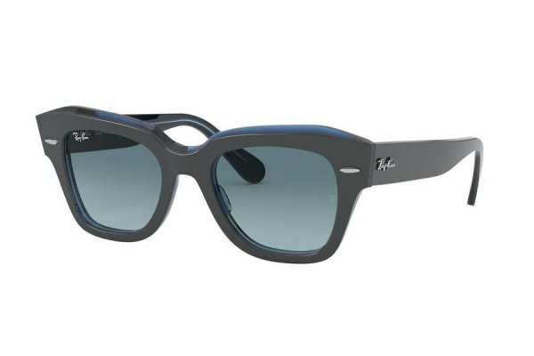 Очки Ray-Ban State Street RB2186-1298-3M Dark Grey | Blue Gradient