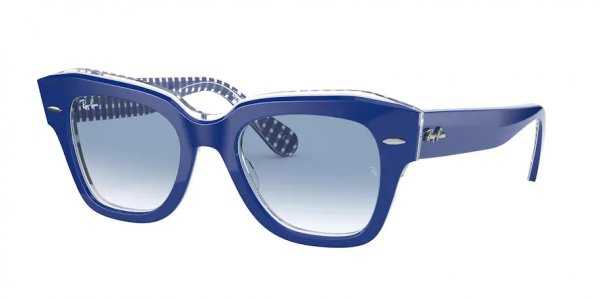 Очки Ray-Ban State Street RB2186-1319-3F Blue | Light Blue Gradient