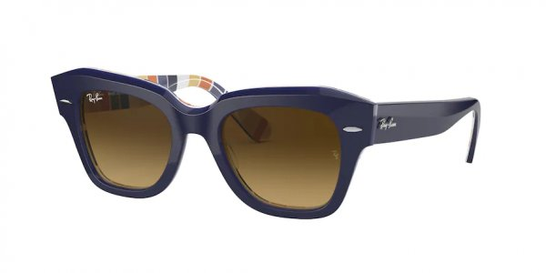 Очки Ray-Ban State Street RB2186-1320-85 Dark Blue | Light Brown Gradient