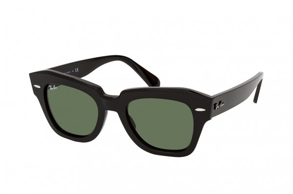 Очки Ray-Ban State Street RB2186-901-31 Black | Natural Green