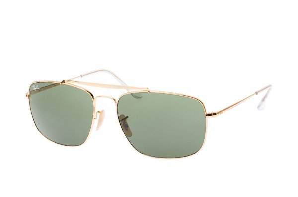 Очки Ray-Ban The Colonel RB3560-001 Arista | Natural Green (G-15XLT)