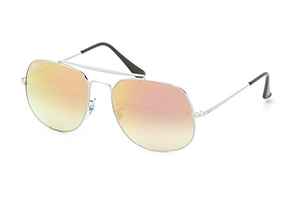 Очки Ray-Ban The General RB3561-003-7O Silver | Mirror Faded Brown