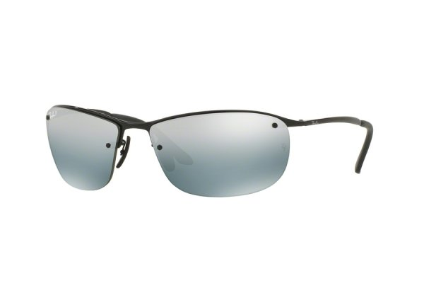 Очки Ray-Ban Top Bar Chromance RB3542-002-5L Black | Light Blue Mirror Polarized