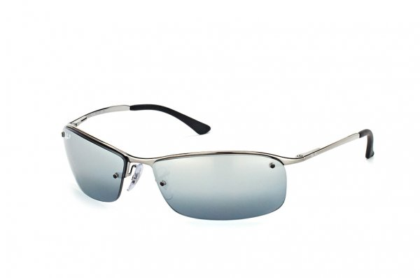 Очки Ray-Ban Top Bar RB3183-004-82 Gunmetal | APX Silver Mirror Polarized P3