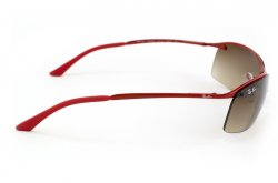 Очки Ray-Ban Top Bar RB3183-031-13 Dark red | Poly. Gradient Brown