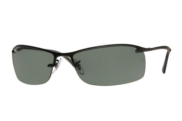 Очки Ray-Ban Top Bar RB3183-W3339 Black | Natural Green Polarized