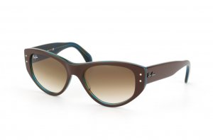 Очки Ray-Ban Vagabond RB4152-1057-51 Brown/Striped Azure Yellow