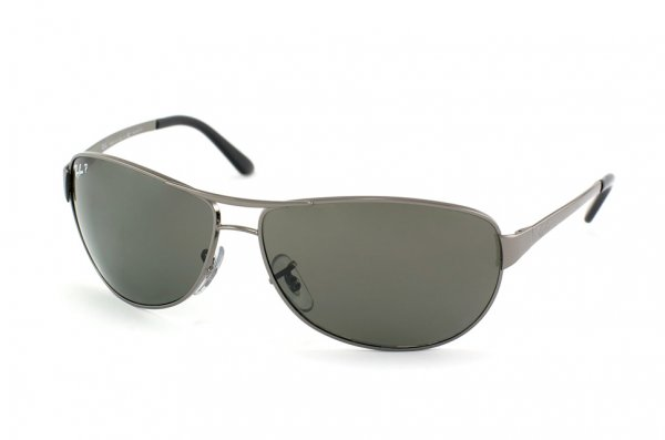 Очки Ray-Ban Warrior RB3342-004-58 Gunmetal/Polarized Natural Green