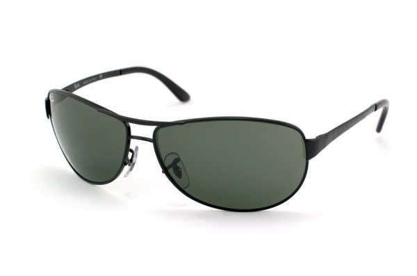 Очки Ray-Ban Warrior RB3342-006 Matt Black/Natural Green (G-15XLT)