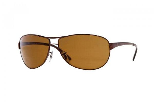 Очки Ray-Ban Warrior RB3342-014-57 Brown | Natural Brown Polarized