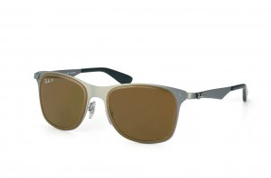 Очки Ray-Ban Wayfarer Flat Metal RB3521M-029-83 Matte Gunmetal | Poly. Brown Polarized P3