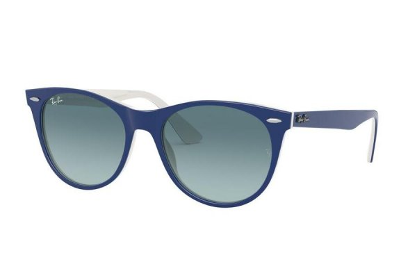 Очки Ray-Ban Wayfarer II Classic RB2185-1299-3M Blue / White | Gradient Blue