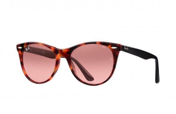 Очки Ray-Ban Wayfarer II Evolve RB2185-1249-AA Dark Havana / Black | Pink Photocromic