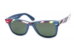 Очки Ray-Ban Wayfarer II RB2143-1025 Blue/Blue, Red, Yellow, Grey | Natural Green (G-15XLT)