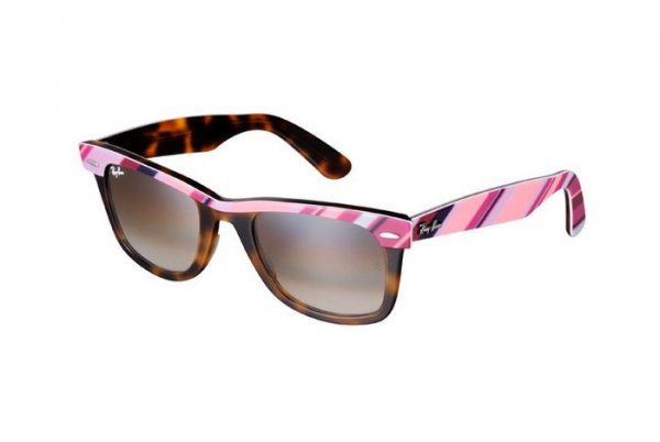 Очки Ray-Ban Wayfarer II RB2143-1026-51 Pink Prints/Havana | Gradient Brown