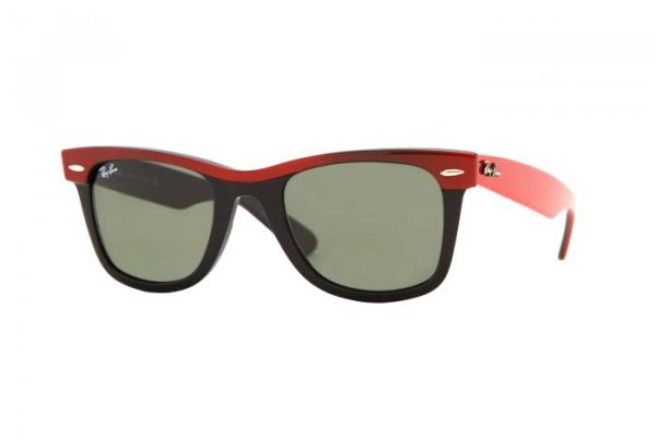Очки Ray-Ban Wayfarer II RB2143-955 Red on Black/Natural Green (G-15XLT)