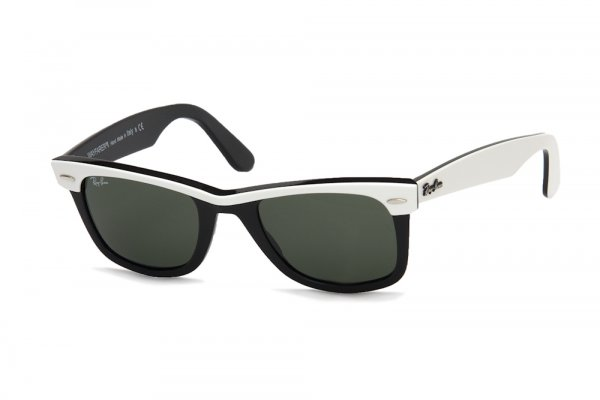 Очки Ray-Ban Wayfarer II RB2143-956 Black/White Top/Natural Green (G-15XLT)