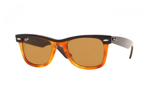 Очки Ray-Ban Wayfarer II RB2143-970 Black/ Orange | Natural Brown (B-15XLT)