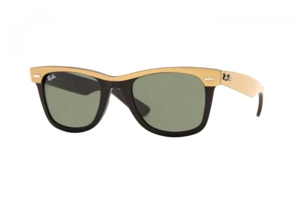 Очки Ray-Ban Wayfarer II RB2143-972 Beige / Black | Natural Green (G-15 XLT)