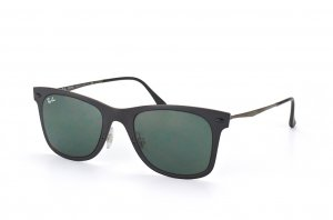 Очки Ray-Ban Wayfarer LightRay RB4210-601S-71 Matt Black| APX Grey/Green