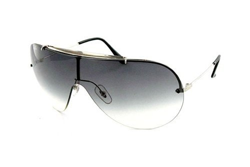Очки Ray-Ban Wings II Oval RB3143-003-8G Silver | APX Gradient Grey