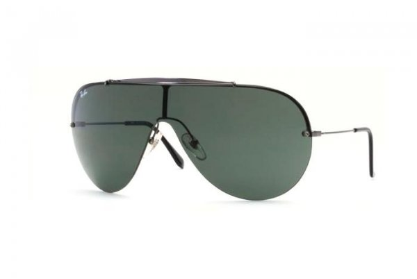 Очки Ray-Ban Wings II Oval RB3143-004 Gunmetal | Natural Green