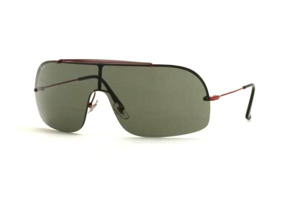 Очки Ray-Ban Wings II RB3160-031-71 Dark Red | Grey-Green