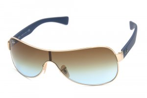 Очки Ray-Ban Youngster RB3471-001-5D Arista/Blue Rubber Temple/Brown Faded Yellow