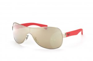 Очки Ray-Ban Youngster RB3471-019-5A Matte Silver/Red Rubber Temple | Arista Mirror