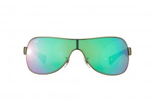 Очки Ray-Ban Youngster RB3471-029-3R Matte Gunmetal/Beige Rubber Temple | Green Mirror