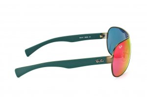 Очки Ray-Ban Youngster RB3471-029-6Q Matte Gunmetal/Green Rubber Temple | Orange Mirror
