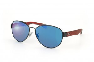 Очки Ray-Ban Youngster RB3491-006-55 Matt Black/Red | Blue Mirror